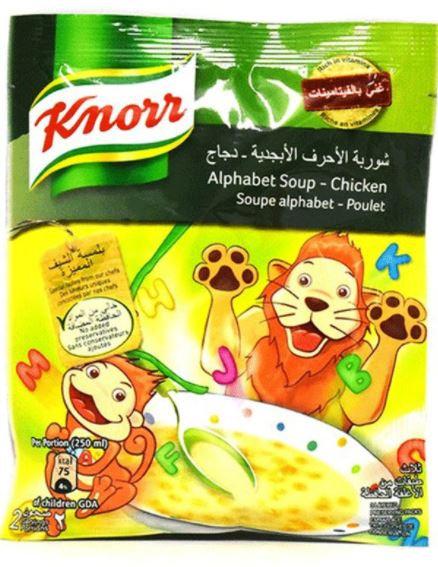 Knorr Chicken Alphabet Soup 50g