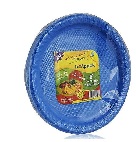 Hotpack Colored Plastic Plates 9inch