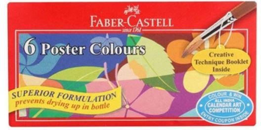 Faber Castell 6-Pieces Poster Colour Paint