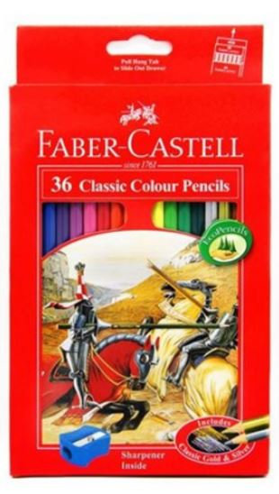 Faber Castell 36-Piece Classic Colour Pencils