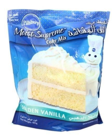 Pillsbury Golden Vanilla Cake Mix 485g
