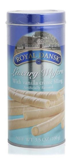 Royal Dansk Vanilla Wafers with Creme Filling 100g