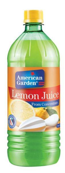 American Garden Lemon Juice 32oz Pack of 12