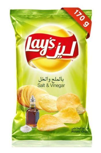Lays Salt And Vinegar Potato Chips 170g