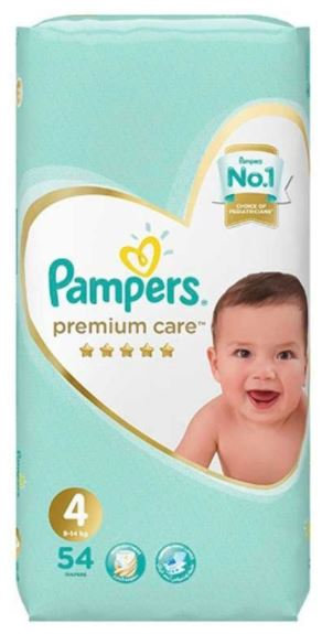 Pampers Premium Care Diapers Size 4, 9-14 kg