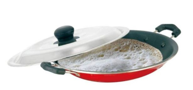 RoyalFord Non Stick Appam Pan Red
