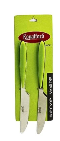 Royalford 2 Pieces Table Knife Green
