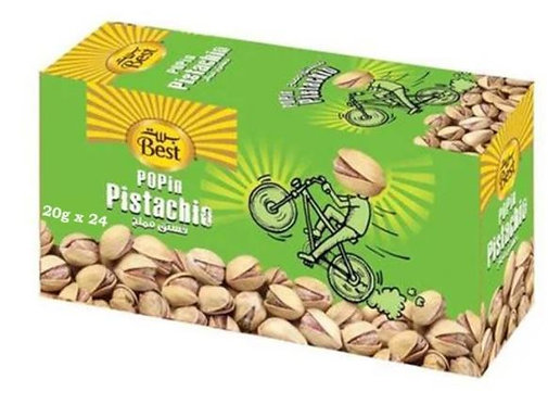 Best Salted Pistachios 20g Pack of 24