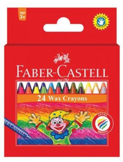 Faber Castell 24-Piece Slim Wax Crayon Round