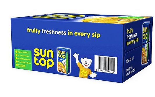 Sun Top Mixed Fruit Juice 125ml x Pack of 18