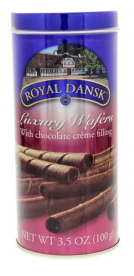 Royal Dansk Chocolate Wafers With Cream 100g