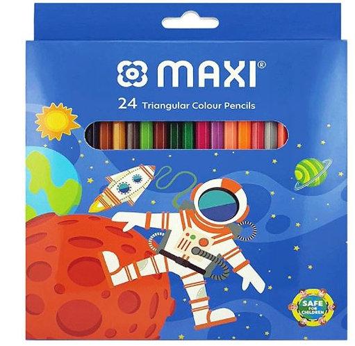 Maxi 24pcs Triangular Colour Pencils