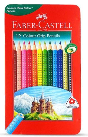Faber-Castell 12-Pieces Grip Pencils Multicolour