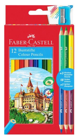 Faber Castell 12 Buntstifte Color Pencil