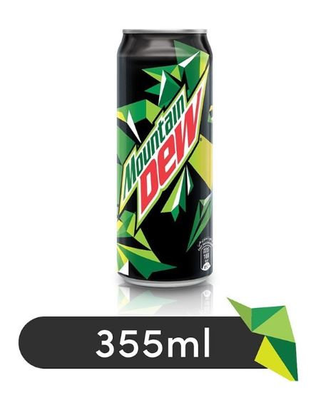 Mountain Dew Soft Drink Can 355ml