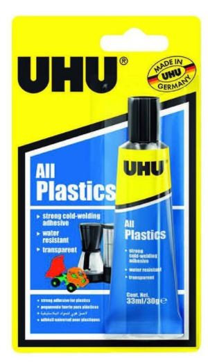 UHU All Plastic Cold Welding Adhesive 33ml