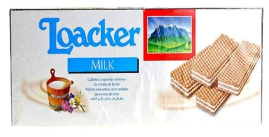 Loacker Wafer Milk Flavour Wafers 45g x Pack of 25