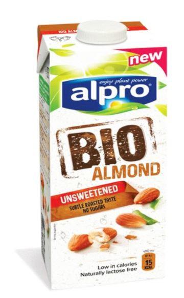 Alpro Drink Bio Almond Unsweetened 1Ltr