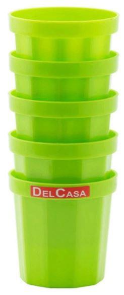 Delcasa 5-Piece Plastic Glass Set