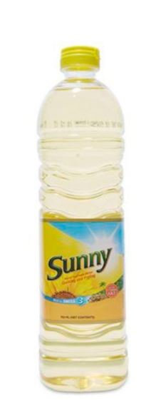 Sunny Sunflower Cooking & Frying Oil 750ml