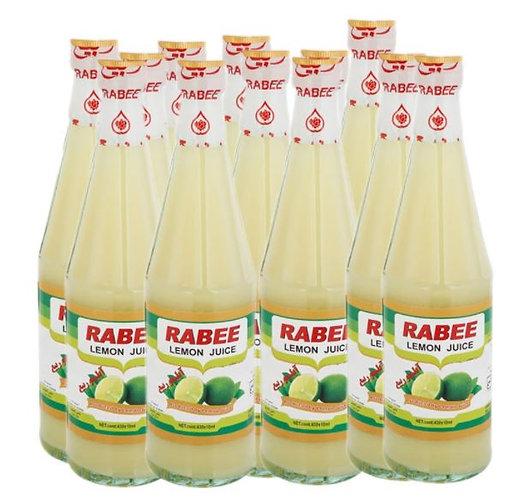 Rabee Lemon Juice 440ml Pack of 12