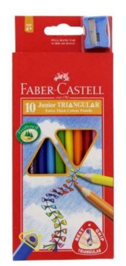 Faber Castell 10-Pieces Junior Triangular