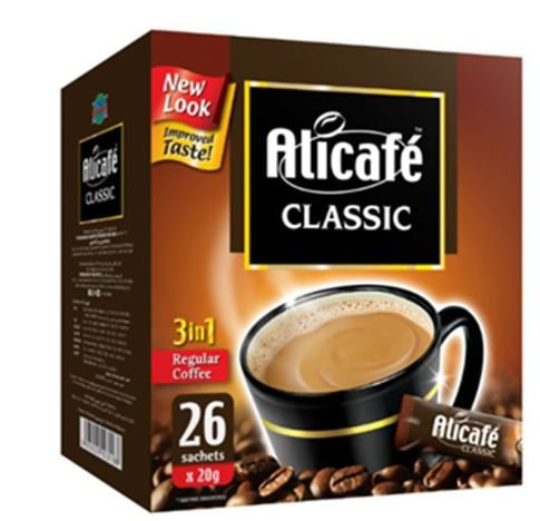 Alicafe Classic 3 in 1 Instant Coffee 26 Sachets