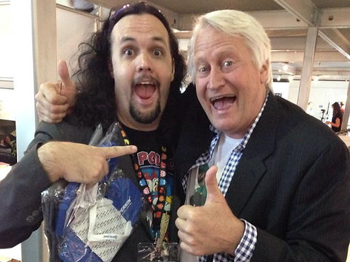 With Charles Martinet, the voice of Supe