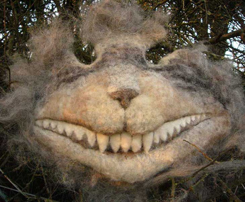 Cheshire cat's grin