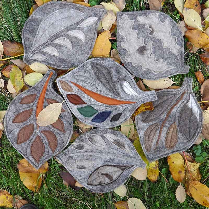 Leaf table mats