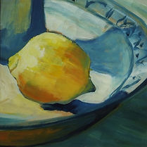 Lemon in Sun still life
