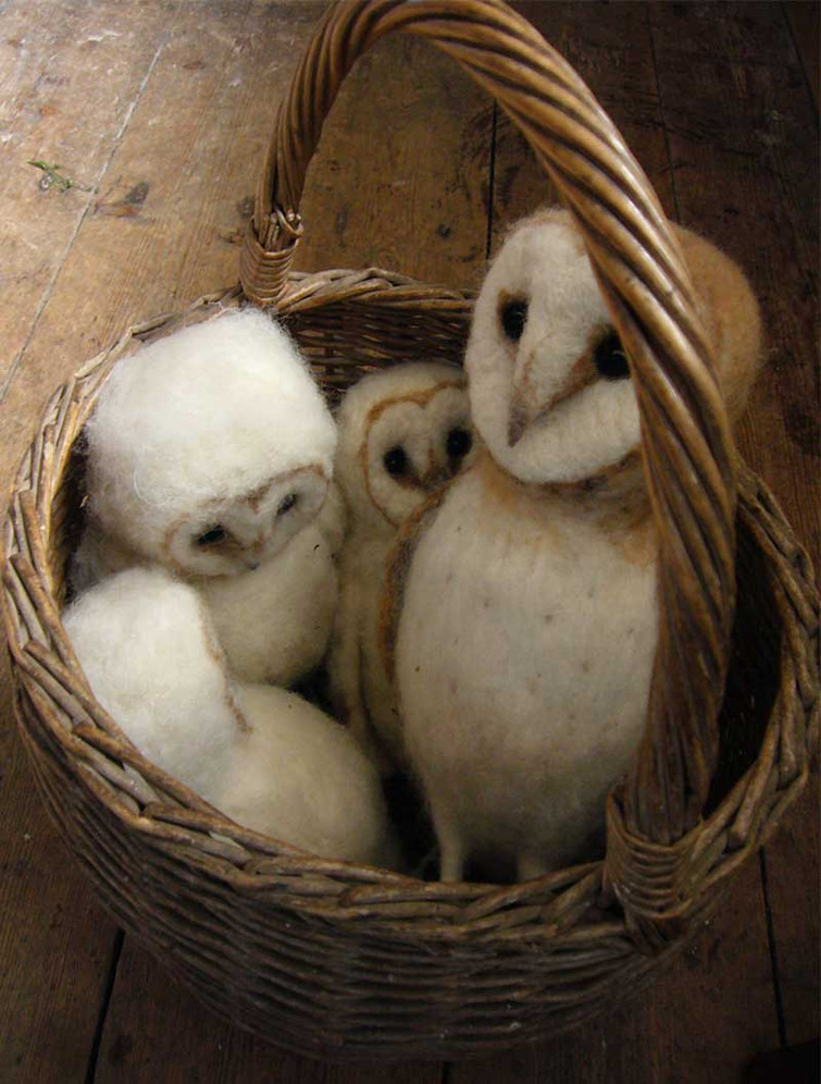 4 owls in my basket