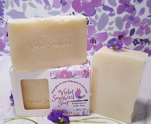 Violet Songbird Soap: Fragrance & Color Free
