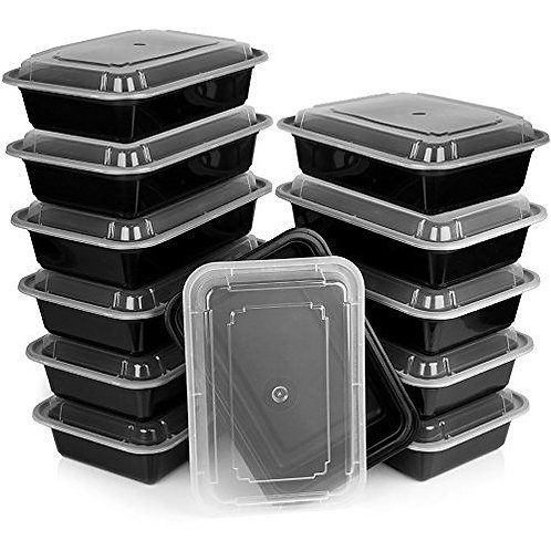 Heim Concept Premium Meal Prep Food Containers with Lids (Set of 12)