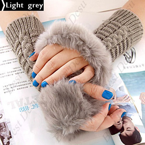 Comfy Knitted Half Finger Gloves