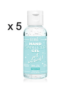 IONI Just Washed! Hand Sanitizer Gel 60ml, Pack of 5