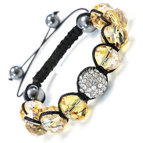 Adjustable Sliding Knot Crystal Bracelet