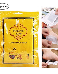 Lanna Herbal Detoxify Toxins Foot Patch (10 Pads Per Pack)