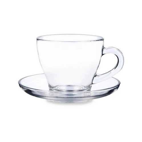 Morocco Coffee or Tea Cup Set with Saucers, Set of 6