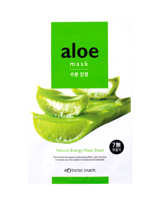 Botanic Farm Natural Energy Mask Sheet - Aloe (Set of 5)