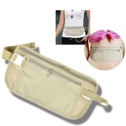 Money Belt Travel Waist Bum Bag Pocket Id Passport Pouch Hidden Wallet