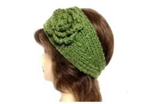 Handmade Knit Crochet Winter Headband Ear Warmer