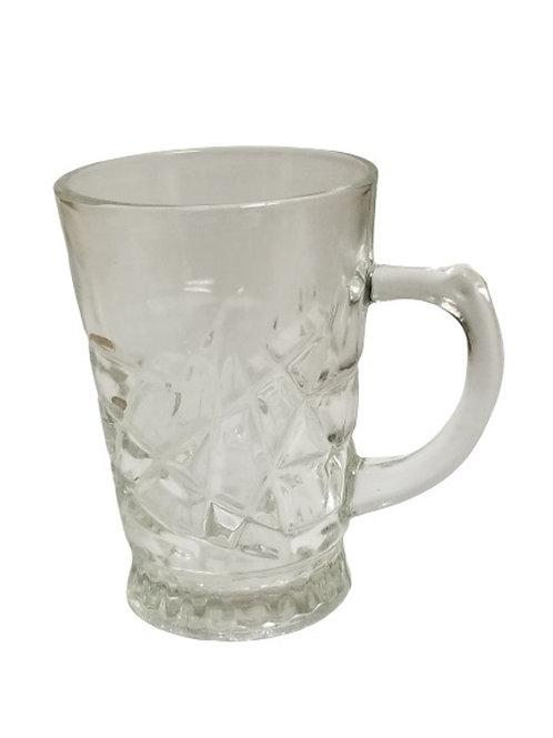 Oliver Glass Coffee Mugs, Set of 6, 6.7 oz