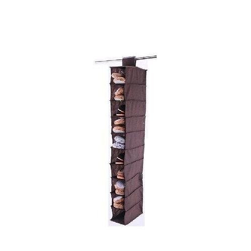 E-Space Non Woven Shoe Shelf / Hanging Shoe Organizer, 10 Compartments