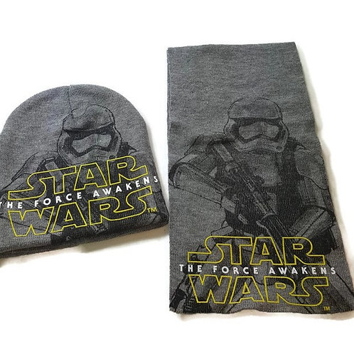Disney Star Wars The Force Awakens Men 2 Piece Set Hat and Scarf