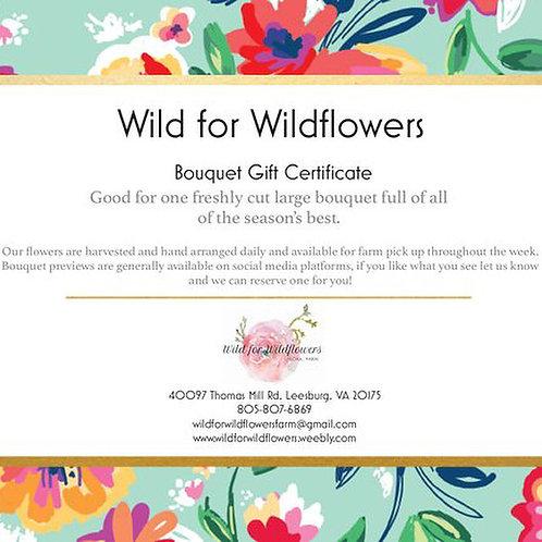 Bouquet Gift Certificate