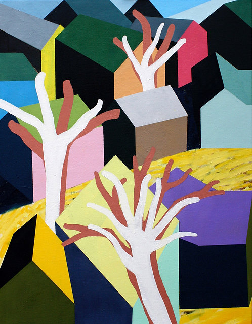 david parsons, houses and trees (2016)