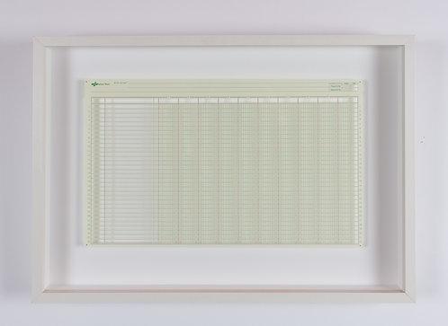 jill sylvia, untitled (balance sheet horizontal green) (2007)