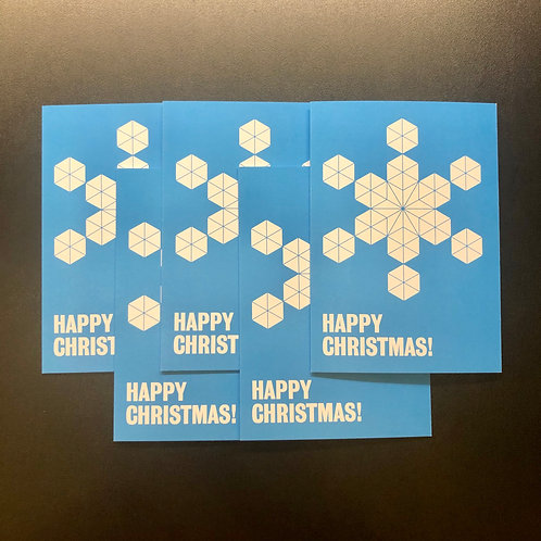 melissa price, happy xmas (blue) (set of five identical cards with envelopes)