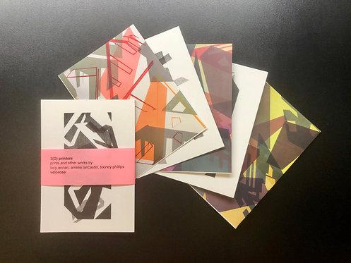 lucy annan, 3(D) printers (set of five postcards)